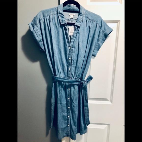 J. Crew Dresses & Skirts - NWT JCrew Button Down Chambray Dress